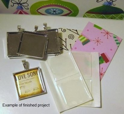 Custom Made Do-It-Yourself Square Pendant Necklace Set