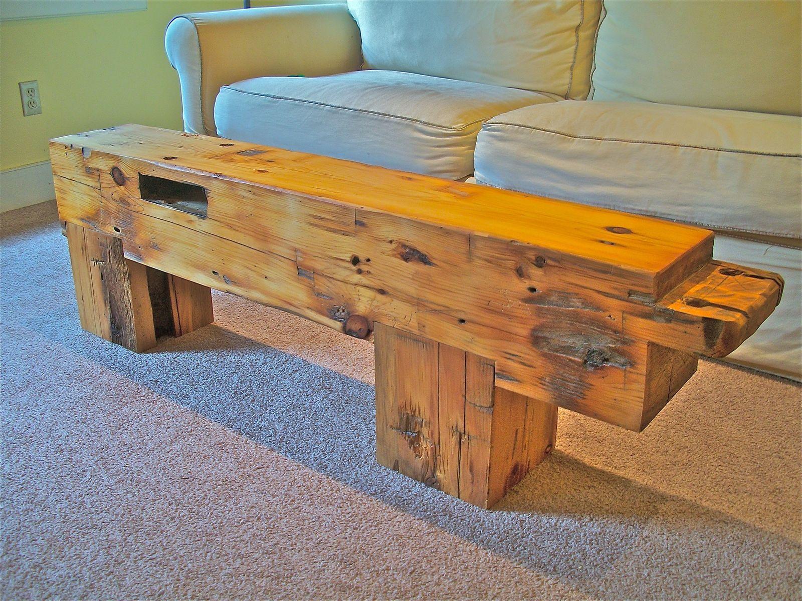custom made corner post timber table