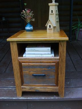 Custom Made Barn Wood File Cabinet