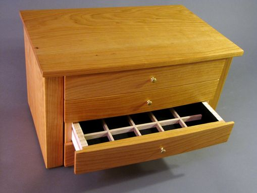 Custom Made Custom Handcrafted Jewelry Chest In Cherry