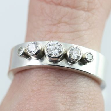 Custom Made 5 Stone Crown Ring (Cubic Zirconia) Size 9.25