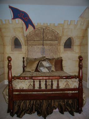 Custom Made Boy's Bedroom Castle And Dragon
