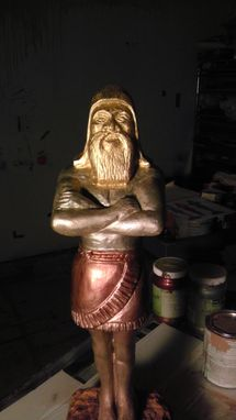 Hand Made A Sculpture Of King Nebuchadnezzar Dream by Jose