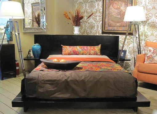 Custom Made Helmut Platform Bed Featured In Mahogany Wood