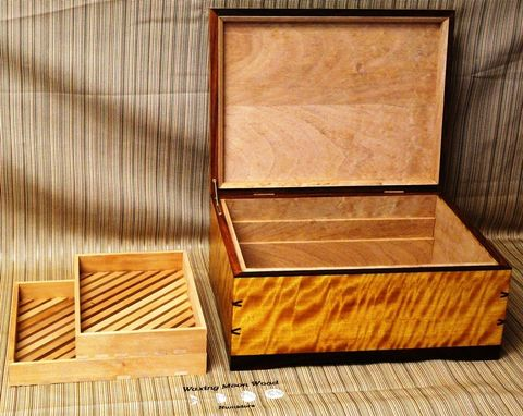 Hand Made Custom Humidor Quot Sundrop Quot By Waxing Moon Wood