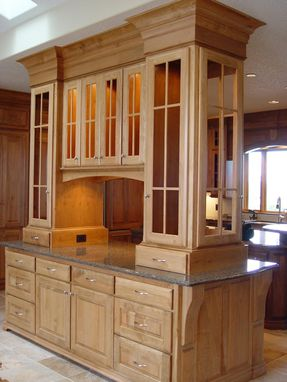 Custom Made Display Cabinets . Western Maple.