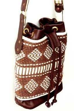 Custom Made Mochila Paisa / Traditional Colombian Woven Bag In Classic Leather