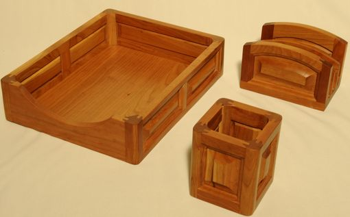 Custom Made Cherry Desk Top Accessory Set