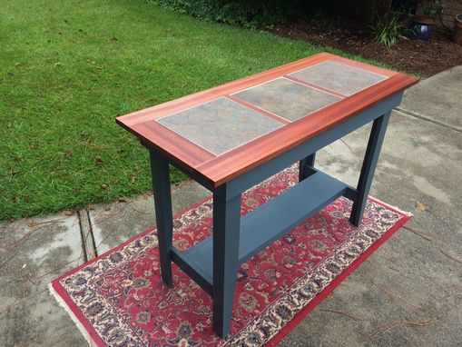 Buy A Hand Crafted Console Table With Inlaid Ceramic Tile