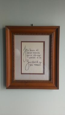 Custom Made Framed Inspiration (Personalized)