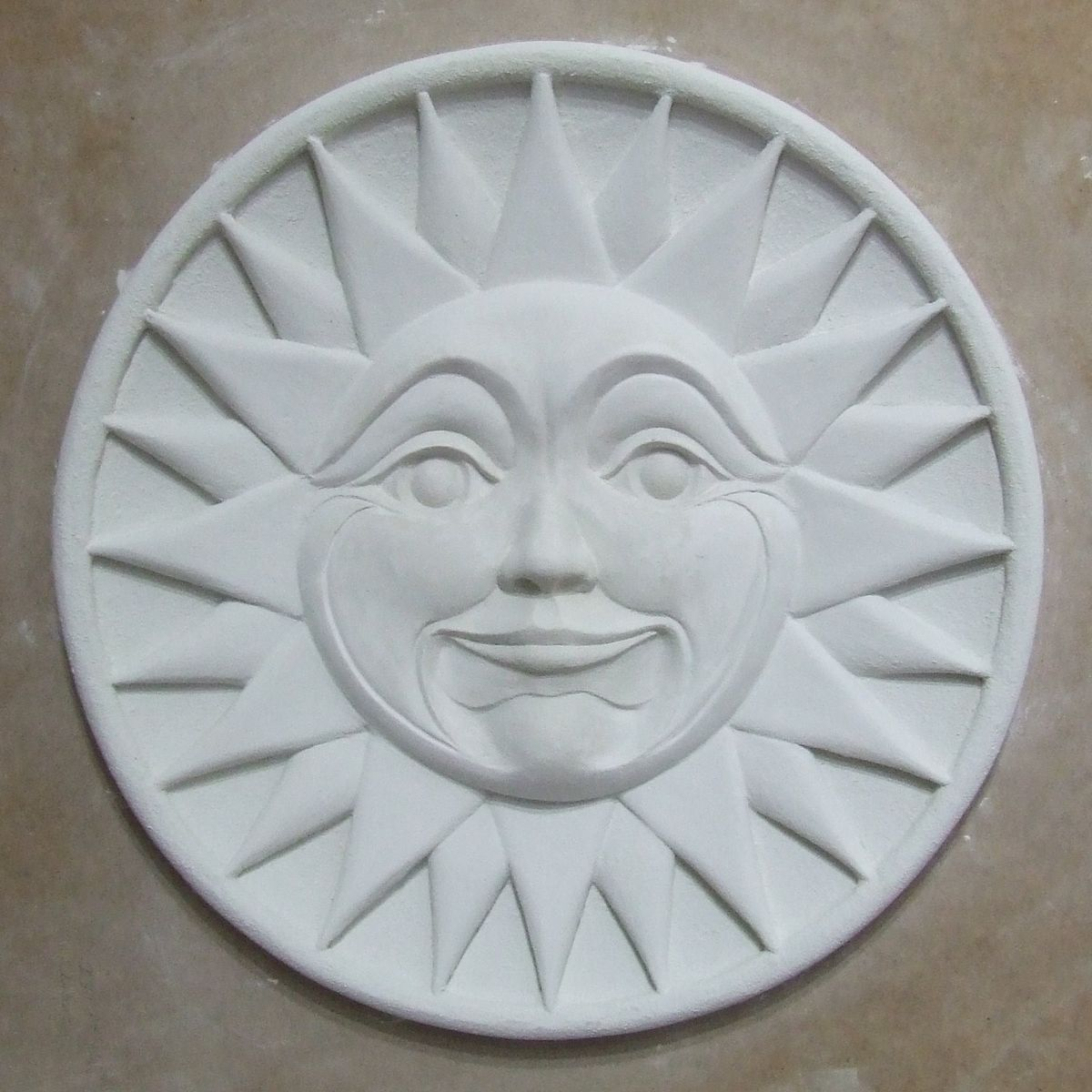 hand made sun high relief sculpted wall art by banksville79