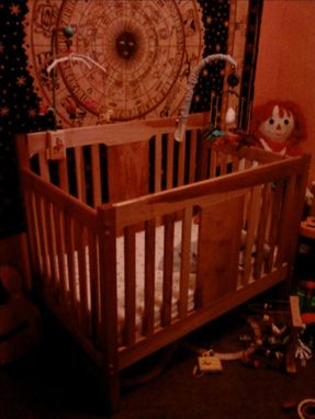 Custom Made Figured Maple Convertible Crib.