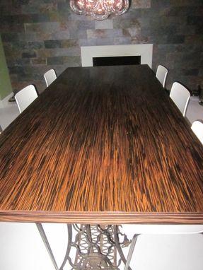 Custom Made Macassar Ebony Wood Slab Dining Table By
