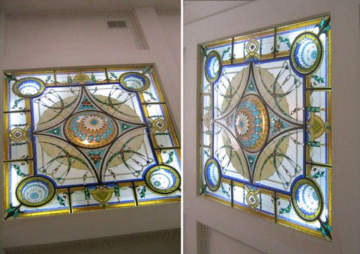 Custom Stained Glass Sky Lights By Casa Loma Art Glass
