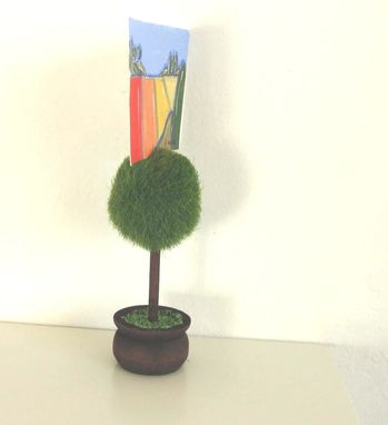 Custom Made Home And Living, Topiary Place Card Holder, Aceo Holder, Wedding