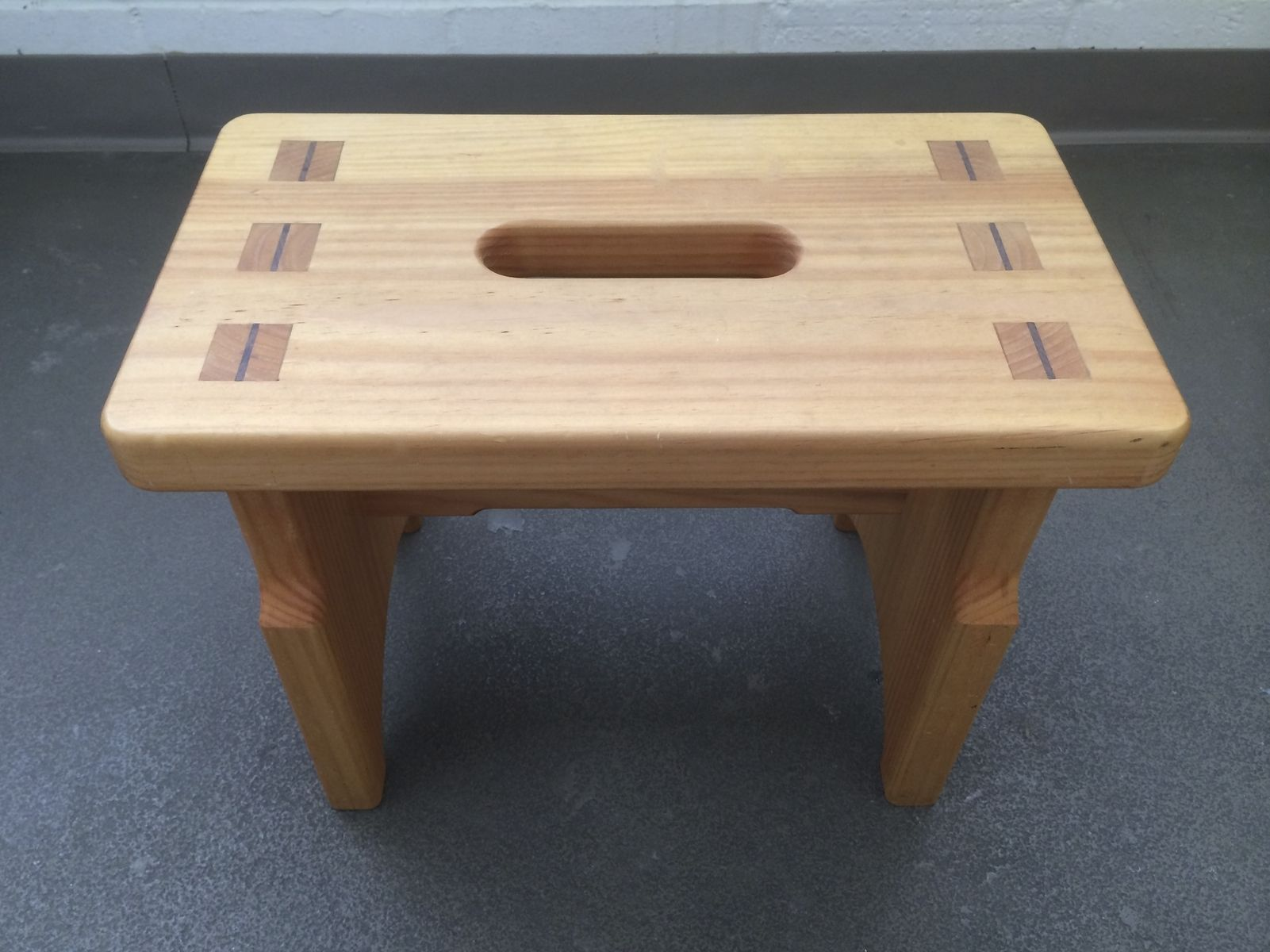 Custom made mortise tenon step stool