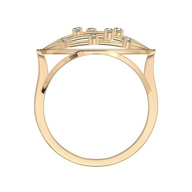 Custom Made Fashionable 14k Yellow Gold Diamond Cocktail Ring 0.15 Ct