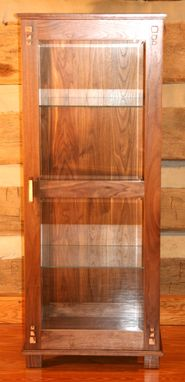 Custom Made Curly Curio Cabinet