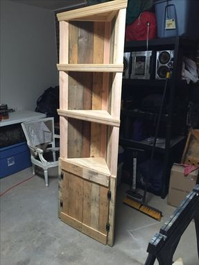 Custom Made Rustic Corner Shelf