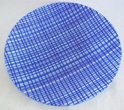 Custom Made Functional Woven-Look Kilnworked Glass Plate