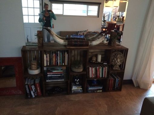 Custom Made All Wood Crate Book Shelf/Entry Table