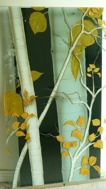 Custom Made Carved Painted Glass