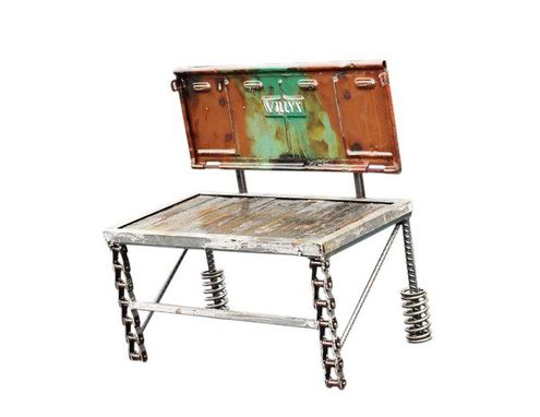 Custom Made Military Jeep Willy Truck 1950s Tailgate Bench Camo Paint - Car Part Furniture