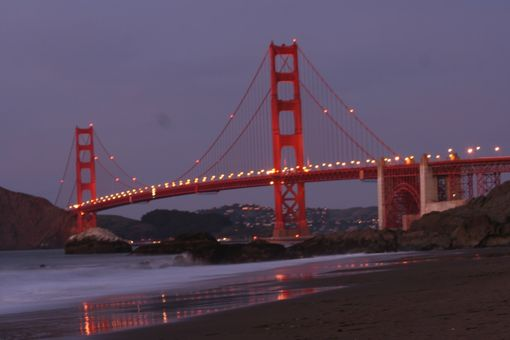 Custom Made Time Lapse Photograph Of The Golden Gate Bridge