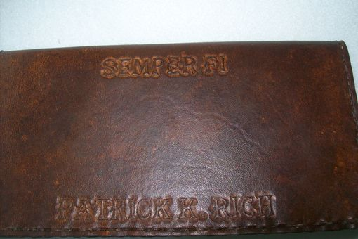 Custom Made Custom Leather Checkbook Cover