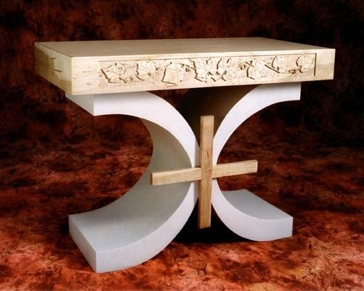 Custom Wood Altar For A Private Chapel Portland Oregon