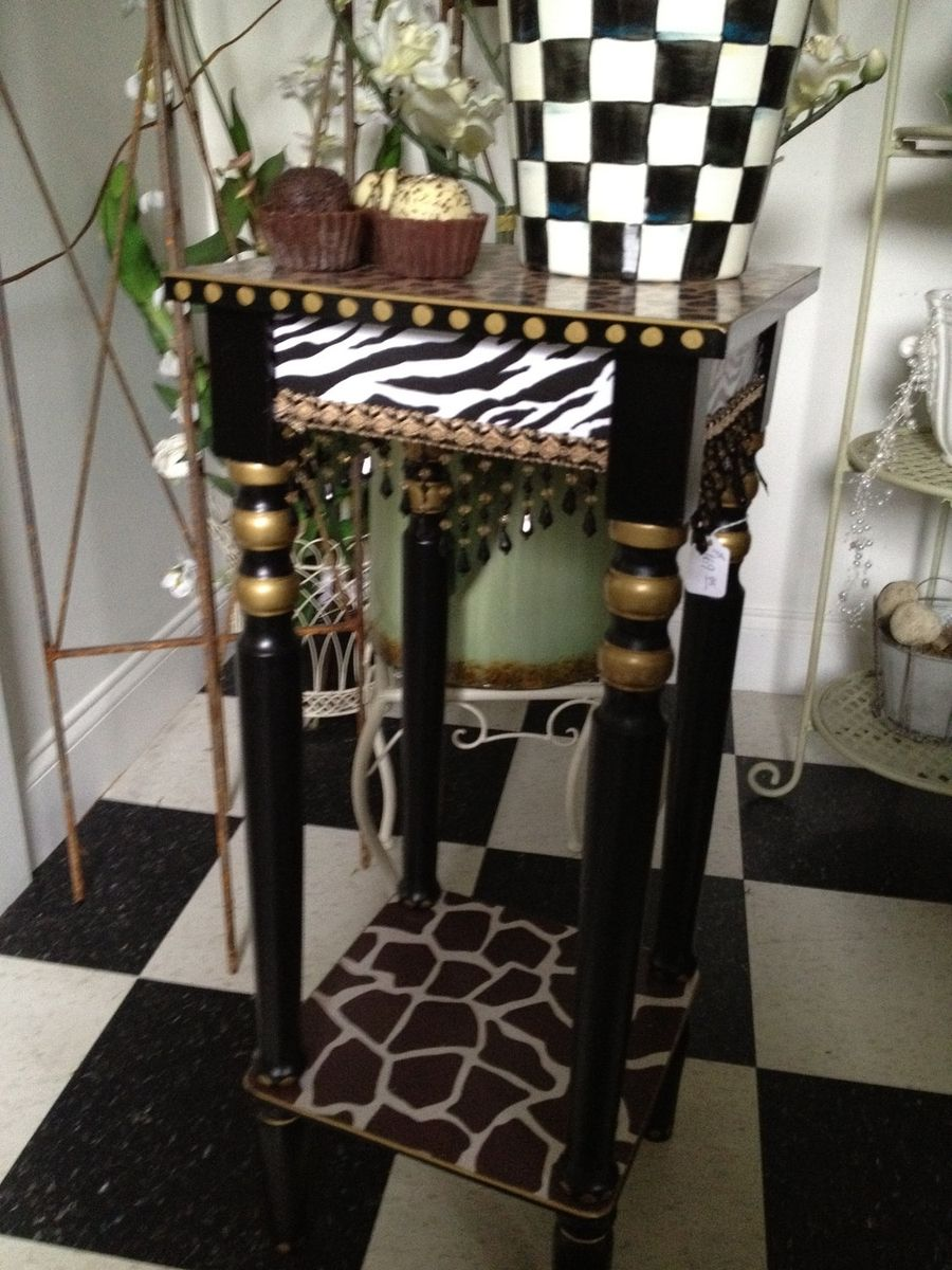 Buy A Hand Crafted Animal Print Table Hand Painted African