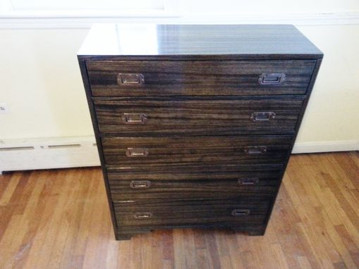 Custom Made Modern Zebra Wood Dresser