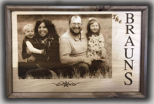 Custom Made Family Photo With Last Name/Quote Date Established