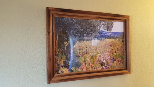 Custom Made Wine Barrel Picture Frame