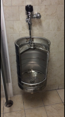Custom Made Keg Urinal, Beer Keg Urinal