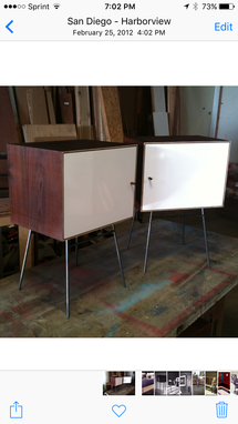 Custom Made Mid Century Modern Mini Console