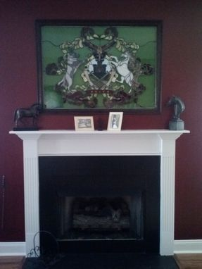 Custom Made Family Coat Of Arms In Stained Glass