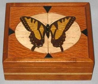 Custom Made Butterfly Keepsake/Jewelry Box