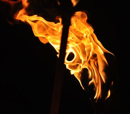 Custom Made Fine Art Photography Of Intimidating Fire Face