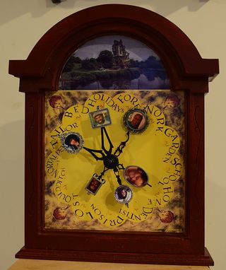 Custom Made Molly Weasley's Wood Clock Customized With Your Family Photos From Harry Potter