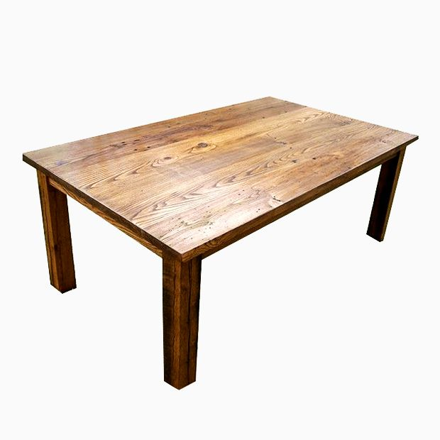 Farmhouse Kitchen Table Square buy a custom wormy chestnut thick plank farmhouse dining table