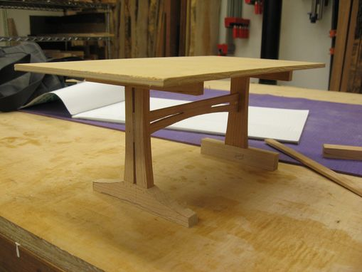 Handmade Cherry 3 Plank Trestle Dining Table By Pat