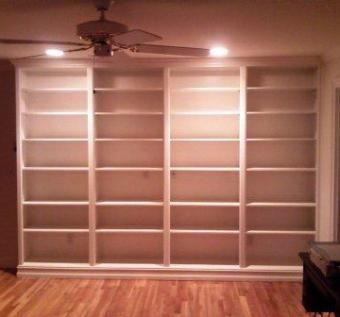 Custom Made Built-In Book Case