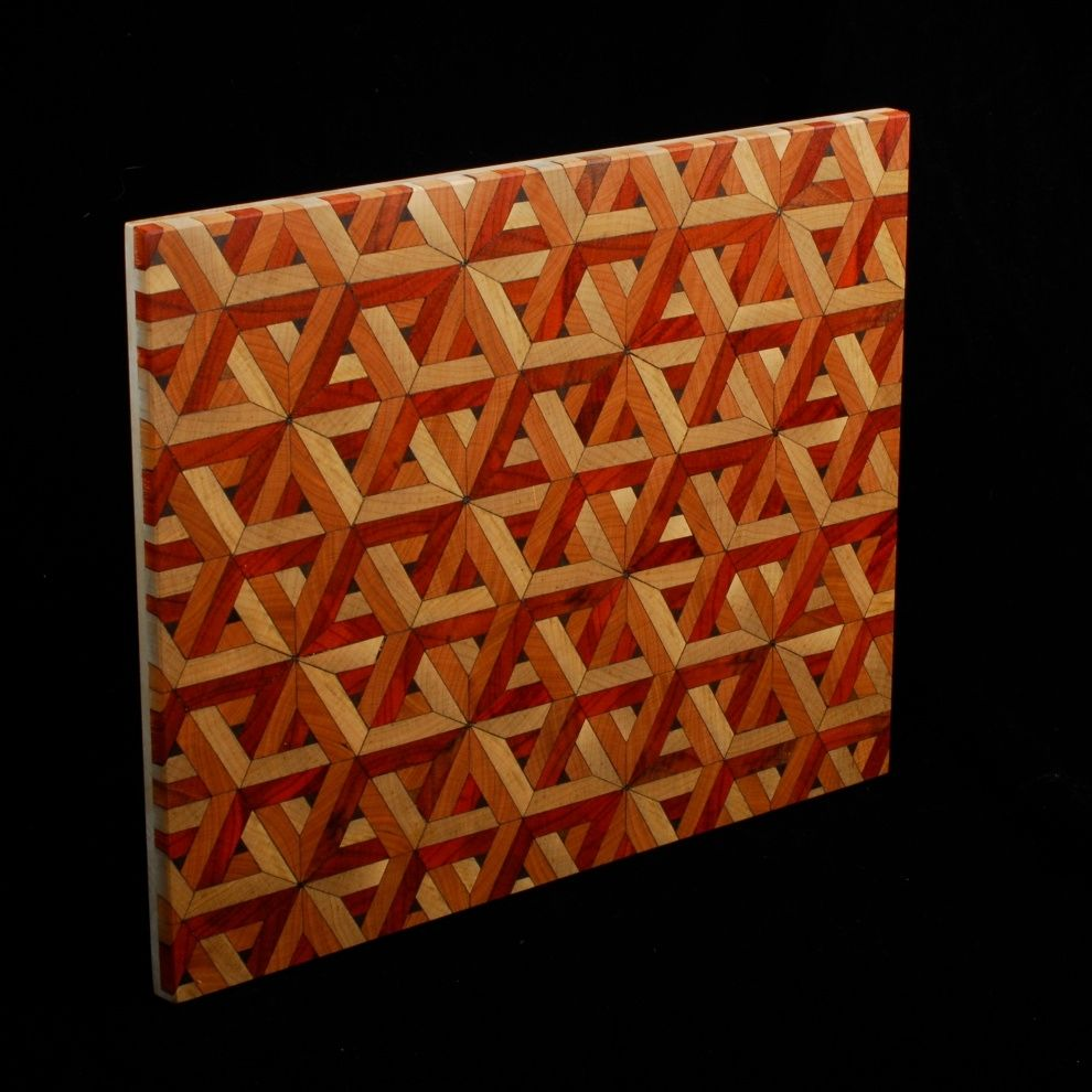 Hand Made Discontinued Laser Cut Geometric End Grain