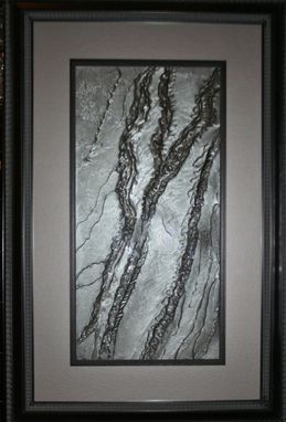 Custom Made Framed Solid Pewter Color In An Abrstract Design For Home Decor