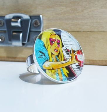 Custom Made Lady Gaga Jewelry - Adjustable Ring- Lady Gaga Accessories - Funky Jewelry