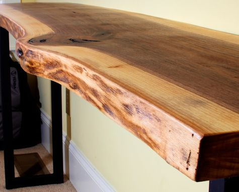 Hand Crafted Black Walnut Live Edge Table Top With