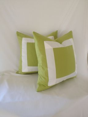 Custom Made Green Cotton With White Ribbon