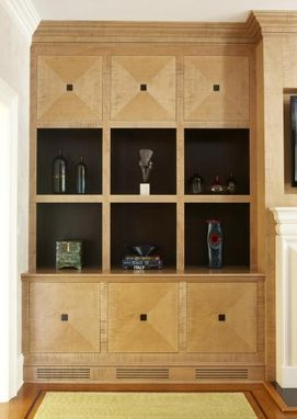 Custom Made Tiger Maple Built-In Wall Unit Sacrsdale, Ny