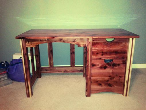Custom Made Cedar Desk